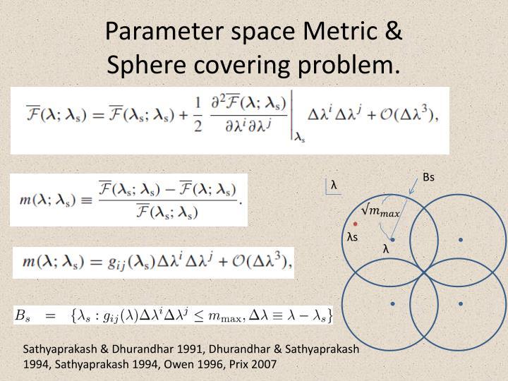Parameter space Metric &