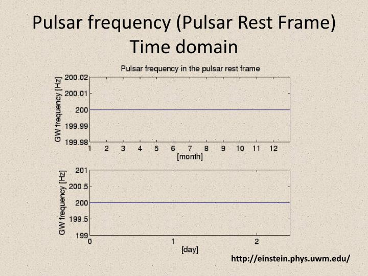 Pulsar frequency (Pulsar Rest Frame)