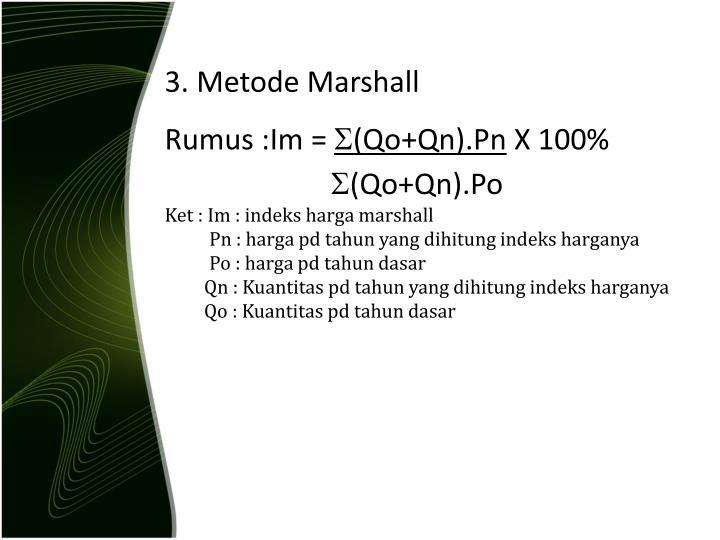 3. Metode Marshall
