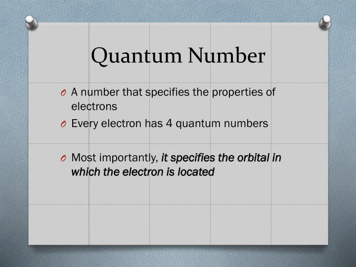 Quantum Number