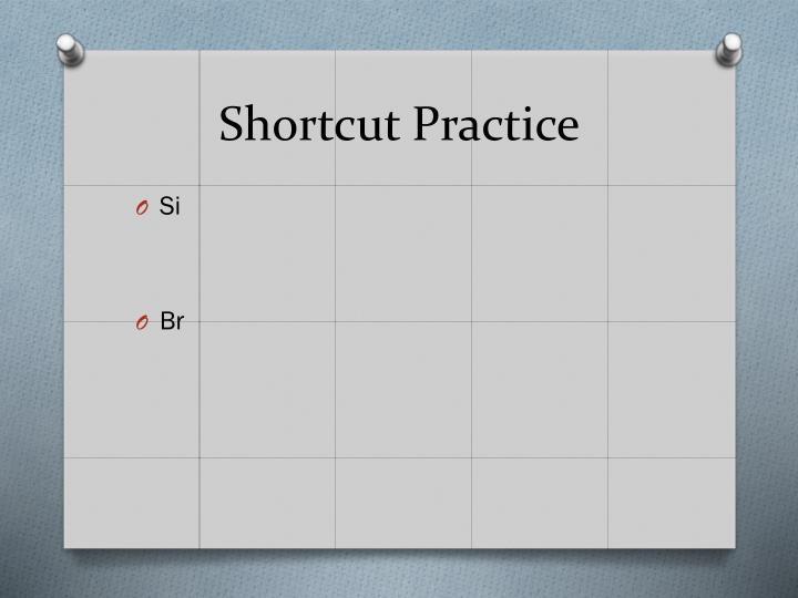 Shortcut Practice