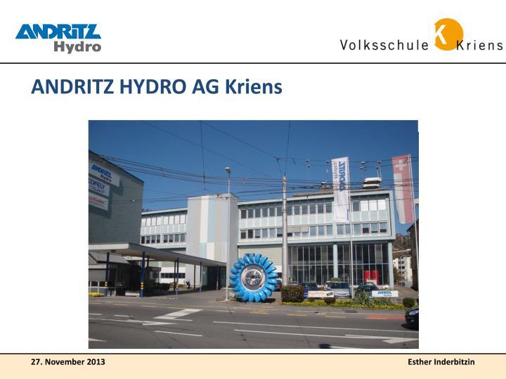 ANDRITZ HYDRO AG Kriens