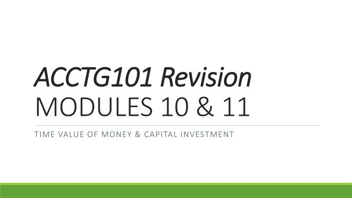 ACCTG101 Revision