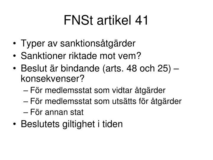 FNSt artikel 41