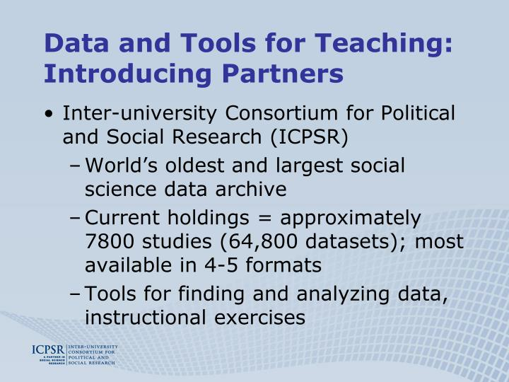 Data and Tools for Teaching: Introducing Partners