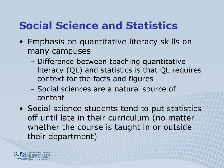 Social Science and Statistics