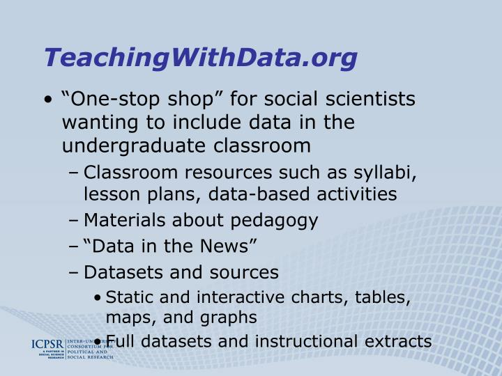 TeachingWithData.org