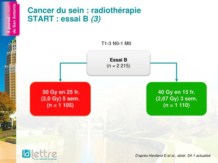 Cancer du sein radioth rapie start essai b 3