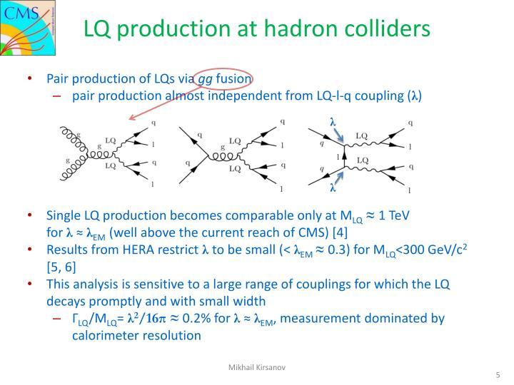 LQ production at