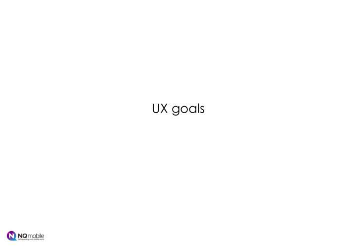 UX goals