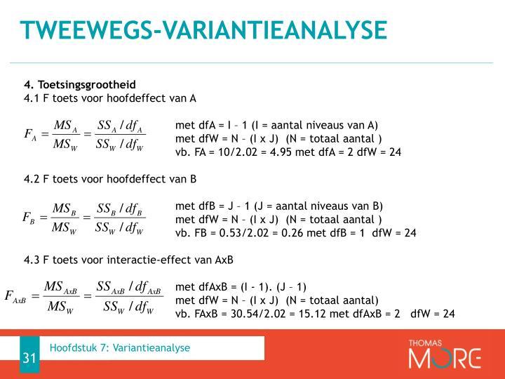 tweewegs-variantieanalyse