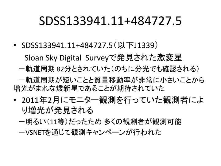 SDSS133941.11+484727.5