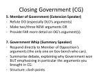 closing government cg