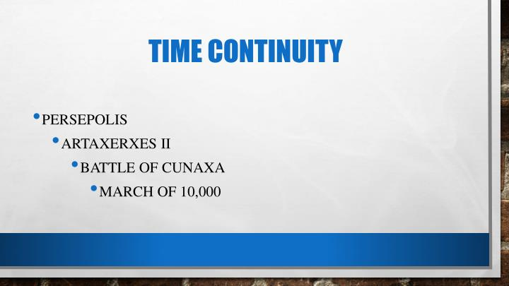 Time Continuity