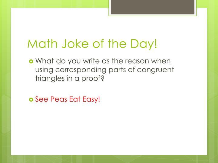 Math Joke of the Day!