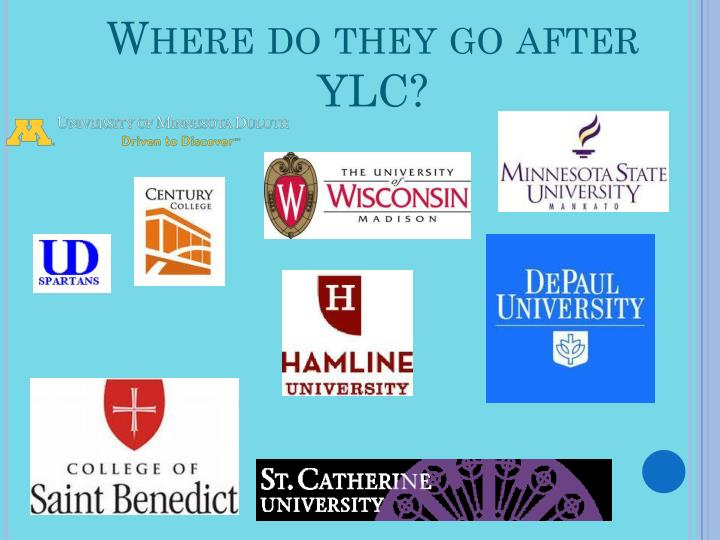 Where do they go after YLC?