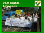 deaf rights advocacy