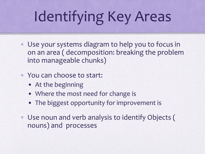 Identifying Key Areas