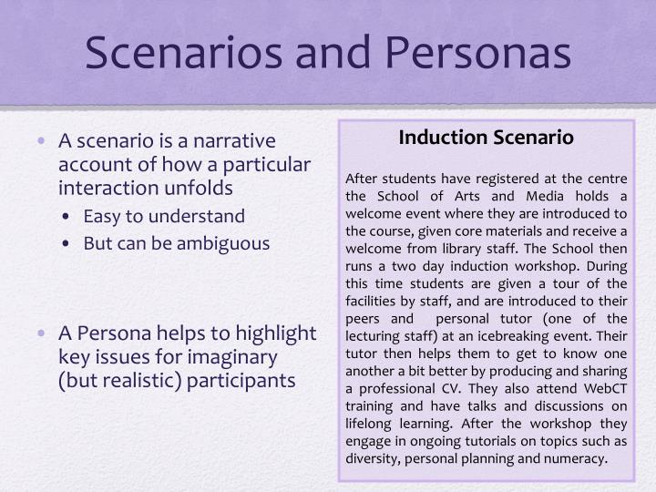 Scenarios and Personas