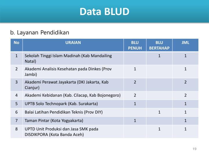 Data BLUD