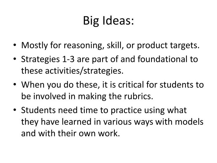 Big Ideas: