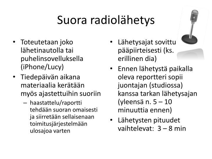 Suora radiolähetys