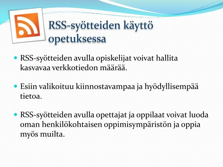 RSS-syötteiden