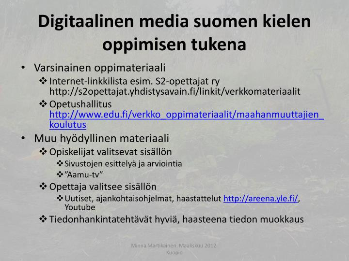 Digitaalinen media suomen