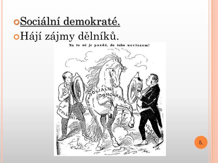 Sociální demokraté.
