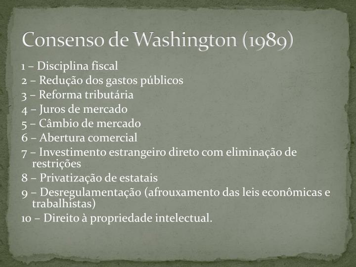 Consenso de Washington (1989)