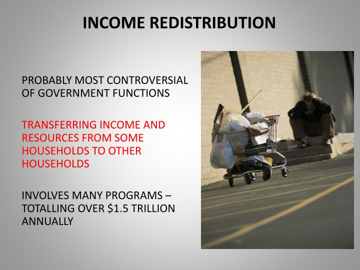 Income redistribution