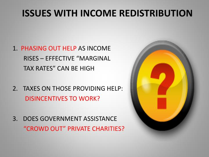 ISSUES WITH INCOME REDISTRIBUTION