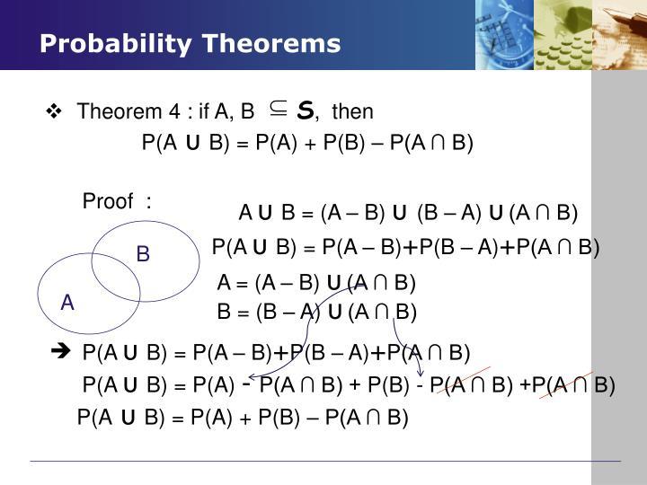 Theorem 4 : if A, B
