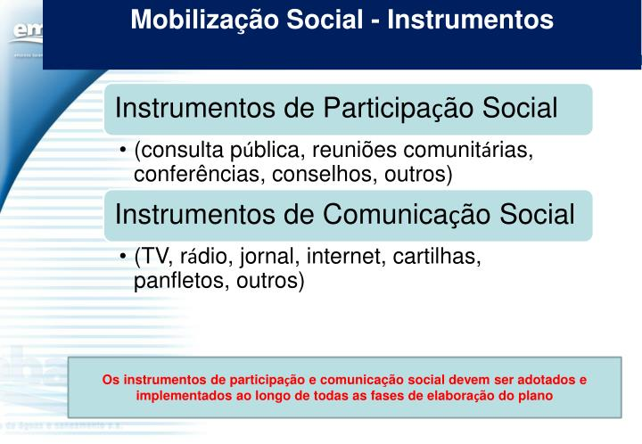 Mobilização Social - Instrumentos