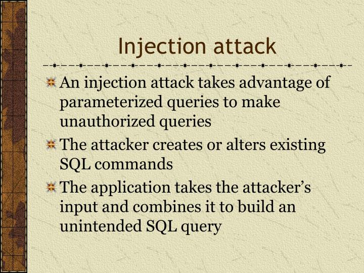 Injection attack