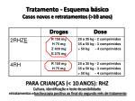 tratamento esquema b sico casos novos e retratamentos 10 anos