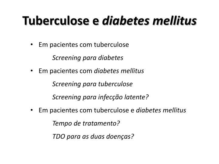 Tuberculose e