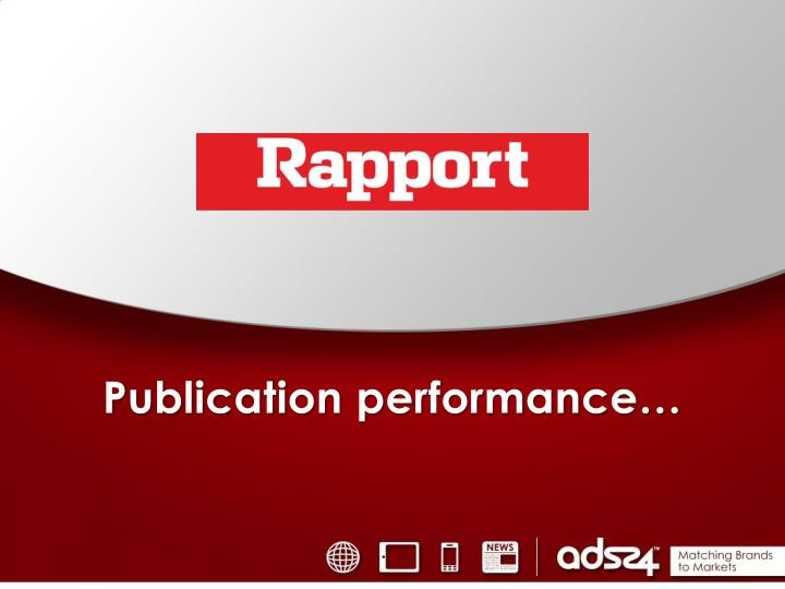 Publication performance…