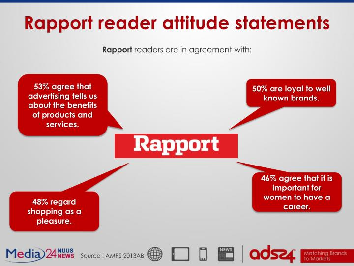 Rapport reader attitude statements