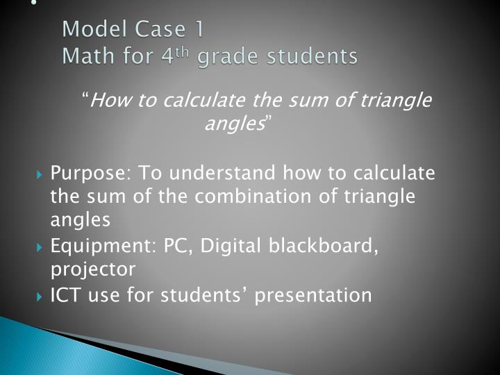 Model Case