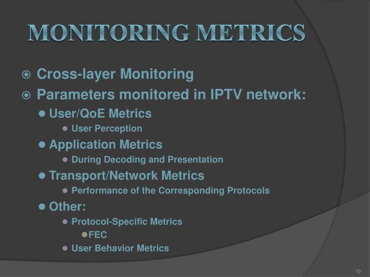 Monitoring metrics