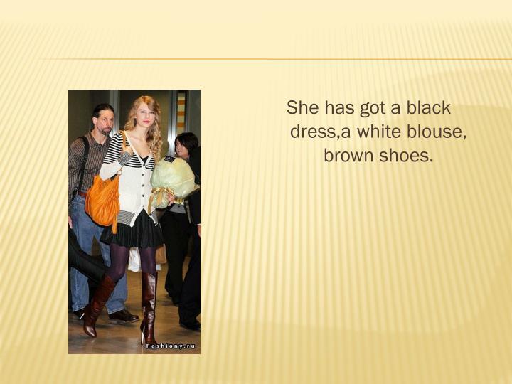 She has got a black