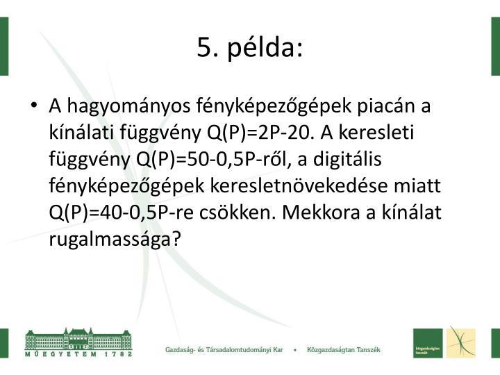 5. példa: