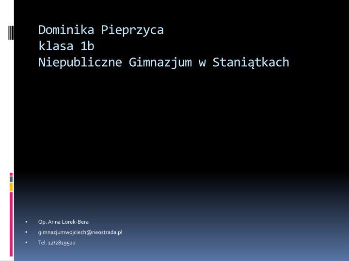 Dominika Pieprzyca