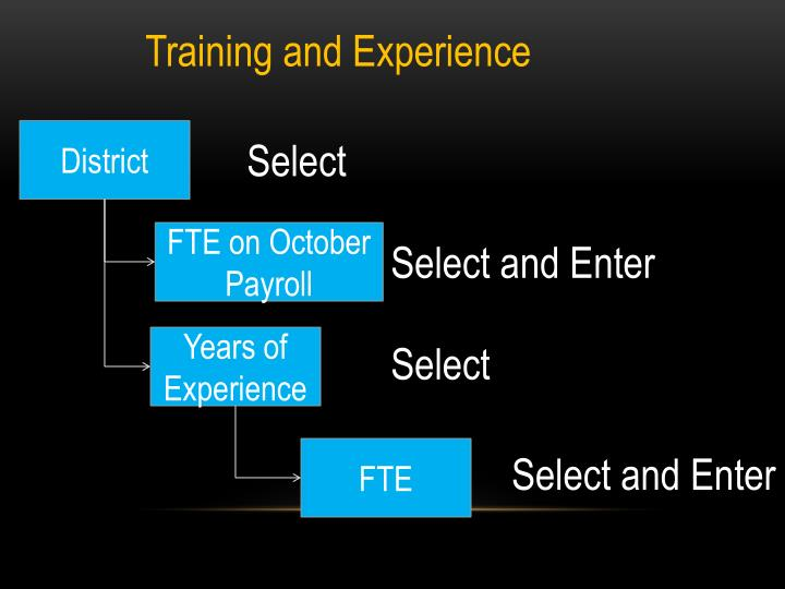 Training and Experience