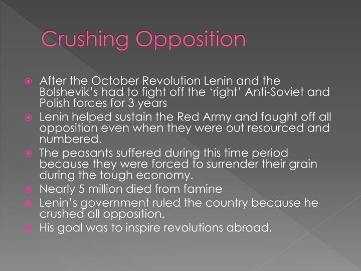 Crushing Opposition