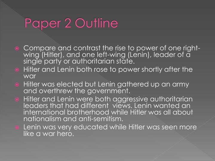 Paper 2 Outline