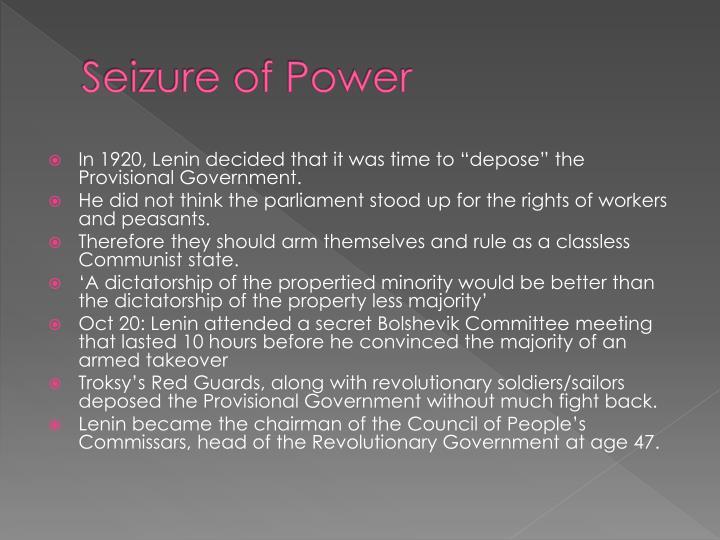 Seizure of Power