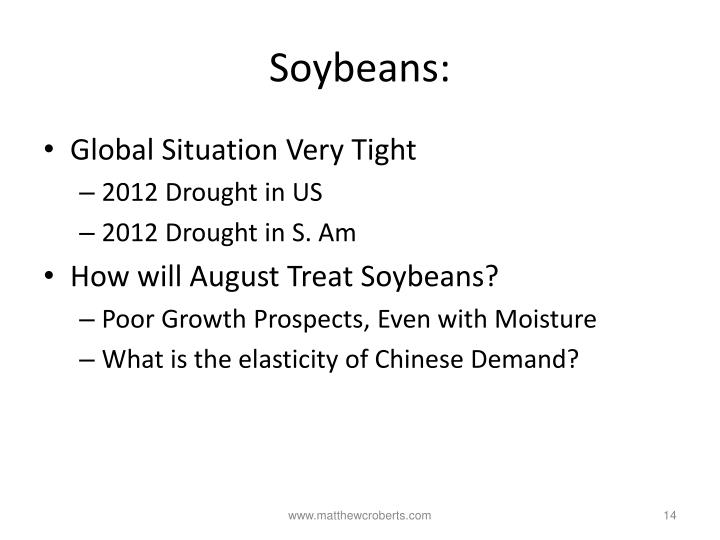 Soybeans: