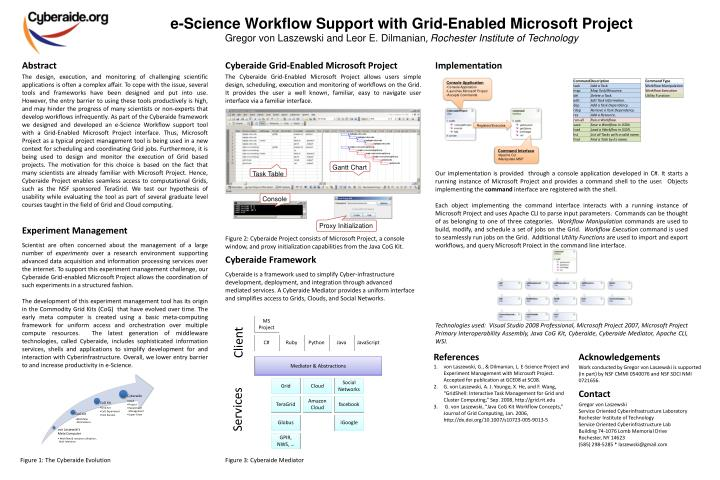 E-Science Workflow Support with Grid-Enabled Microsoft Project